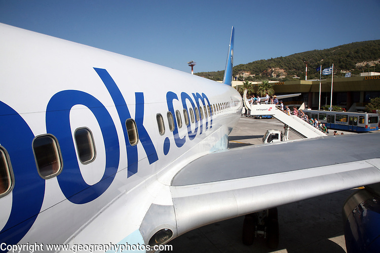 Thomas Cook charter plane at Rhodes airport, Greece