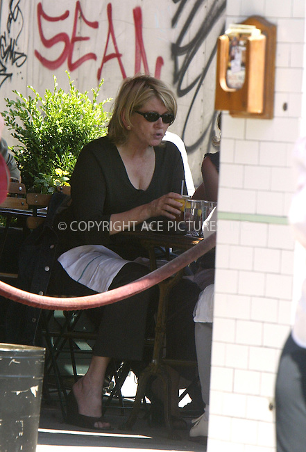 Martha Stewart appears to be in good shape when we spotted her having lunch with friends at Pastis in meat packing district. New York, June 23, 2004. Please byline: PHILIP VAUGHAN/ACE Pictures.   .. *** ***  ..All Celebrity Entertainment, Inc:  ..contact: Alecsey Boldeskul (646) 267-6913 ..Philip Vaughan (646) 769-0430..e-mail: info@nyphotopress.com