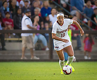 STANFORD, CA - August 30, 2019: Maya Doms at Maloney Field at Laird Q. Cagan Stadium. The Cardinal defeated the University of Pennsylvania Quakers 5-1.