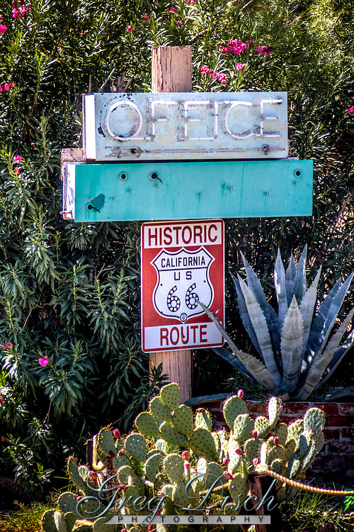 Route 66 Motel in Needles California.