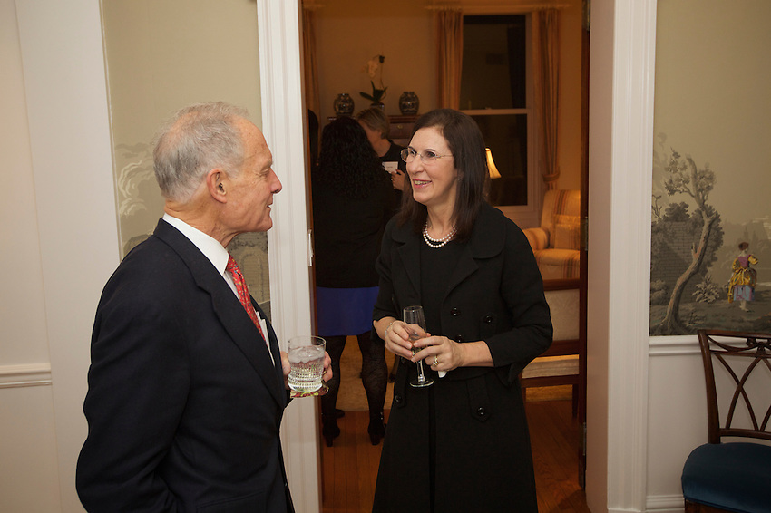 NEW YORK, NY - February 22, 2017: Whitehead in NYC, an event featuring scientific presentations by Whitehead Institute fellows Olivia Corradin, Ph D and Silvi Rouskin, Ph D and a cocktail reception with guests at the home of Beatrice Mitchell and Paul Sperry on the Upper East Side.<br />  <br /> Credit: Clay Williams for Whitehead Institute.<br /> <br /> &copy; Clay Williams / http://claywilliamsphoto.com