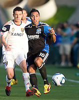 Arturo Alvarez of Earthquakes in action during the game against Real Salt Lake at Buck Shaw Stadium in Santa Clara, California on March 27th, 2010.   Real Salt Lake defeated San Jose Earthquakes, 3-0.
