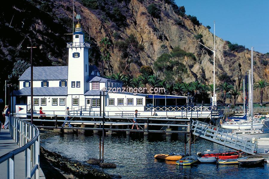 Avalon Harbor, Santa Catalina Island, Tuna Club, Sailboats, Moored
