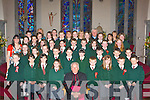 Firies NS pupils who made their confirmation in Firies on Monday with their teachers Iona Fitzgerald, Catherine Mulligan, Helen Barry, Eileen Brosnan, Geraldine Shanahan, Eva Spillane and Fr Noel Spring