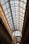 Roof of Vittorio Emanuele II Shopping Gallery in Milan; Italy