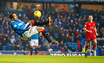 4.3.2018: Rangers v Falkirk Scottish Cup QF<br /> Bruno Alves attempts to score with an overhead kick