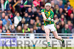 Daniel Collins Kilmoyley in action against  Ballyduff in the County Senior Hurling Final at Austin Stack Park on Sunday.