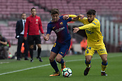 1st October 2017, Camp Nou, Barcelona, Spain; La Liga football, Barcelona versus Las Palmas; Sergi Roberto of FC Barcelona looks to run with the ball