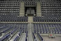 HC Leipzig : DVSC Korvex - Handball Damen Women Champions League - .Nach einem souveränen 31:25 Erfolg gegen den ungarischen Vize-Meister DVSC Korvex vor 2.747 Zuschauern in der Leipziger ARENA - im Bild: Sitzplätze Arena Zuschauer Eintrittskarten Geisterspiel Spielabsage Feature.   Foto: Norman Rembarz.