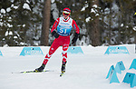 Prince George, B.-C., 16 February/2019  - Kyle Barber competes in the men's standing middle distance biathlon on day 01 of the 2019 World Para Nordic skiing Championships in Prince George, B.C. Photo Bob Frid/Canadian Paralympic Committee.