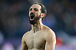 Atletico de Madrid's Juanfran Torres celebrates the victory in the UEFA Champions League match. March 15,2016. (ALTERPHOTOS/Acero)