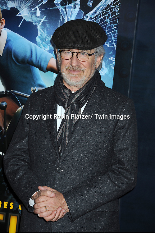 """Director Steven Spielberg attends The US Premiere of """" The Adventures of TinTin""""..on December 11, 2011 at The Ziegfeld Theatre in New York City."""