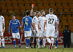 St Johnstone v Inverness Caley Thistle&hellip;09.03.16  SPFL McDiarmid Park, Perth<br />Gary Warren is sent off<br />Picture by Graeme Hart.<br />Copyright Perthshire Picture Agency<br />Tel: 01738 623350  Mobile: 07990 594431