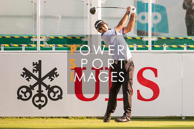 Chiragh Kumar of India tees off the first hole during the 58th UBS Hong Kong Open as part of the European Tour on 08 December 2016, at the Hong Kong Golf Club, Fanling, Hong Kong, China. Photo by Marcio Rodrigo Machado / Power Sport Images