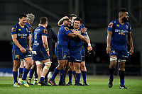 Otago players celebrate winning the 2018 Mitre 10 Cup Championship rugby semifinal between Canterbury and Counties Manukau at Forsyth Barr Stadium in Dunedin, New Zealand on Saturday, 20 October 2018. Photo: Joe Allison / lintottphoto.co.nz
