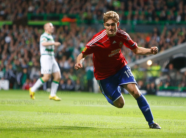 Nikicia Jelavic celebtates his goal for Rapid Vienna