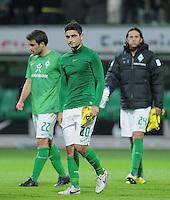 FUSSBALL   1. BUNDESLIGA   SAISON 2011/2012    9. SPIELTAG  14.10.2011 SV Werder Bremen - Borussia Dortmund                  Enttaeuschung SV Werder Bremen; Mehmet Ekici (Mitte)