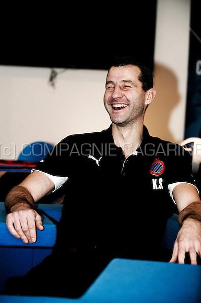 Kristof Sas, club doctor at the Club Bruges football club (Belgium, 22/12/2011)