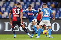 Giovanni Di Lorenzo of Napoli and Dries Mertens of Napoli<br /> Napoli 09-11-2019 Stadio San Paolo <br /> Football Serie A 2019/2020 <br /> SSC Napoli - Genoa CFC<br /> Photo Cesare Purini / Insidefoto