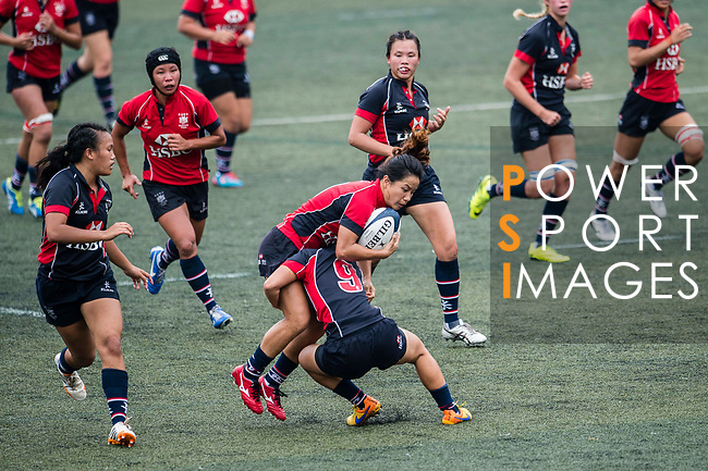 Sham Wai Sum of Lions (L) in action during the Women's National Super Series 2017 on 13 May 2017, in Hong Kong Football Club, Hong Kong, China. Photo by Marcio Rodrigo Machado / Power Sport Images