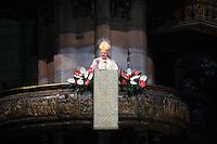 Milano: il nuovo arcivescovo di Milano Angelo Scola durante l'omelia