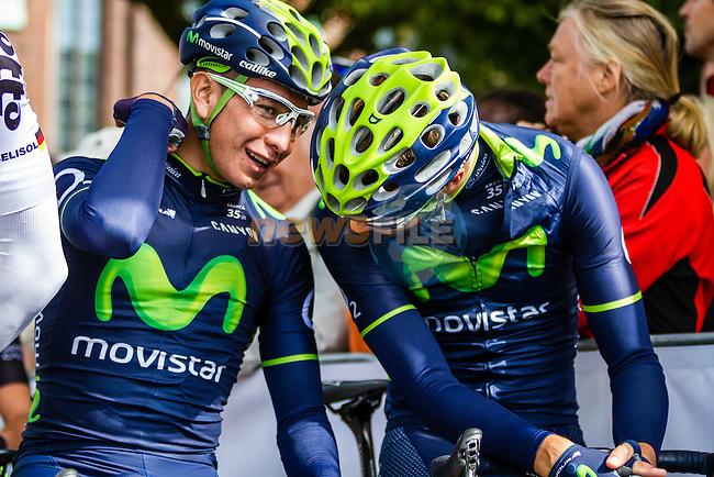 Movistar Team, Vattenfall Cyclassics, Hamburg, Germany, 24 August 2014, Photo by Thomas van Bracht