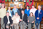 RECOGNITION: Mary Heaslip, Rockpark Ave, Tralee, who was honoured by the Tralee/Fenit branch of the RNLI at a function at The Tankard Bar & Restaurant, Fenit, on Thursday night for her contribution in fundraising for the RNLI. Front l-r: JP Brick (Chairman of the Fundraising Committee RNLI), Mary Heaslip, Roland Blennerhassett (Chairman of the Tralee/Fenit branch of the RNLI) and Ann Sweeney (Fundraising manager for Munster). Back l-r: David Buttimer, Jan Bowes, Ted Heaslip, John O'Connor, Daire Crowley, Adrian O'Sullivan (The Tankard) and Ger O'Donnell..