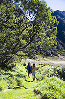 Two women hiking in Maui's Haleakala National Park