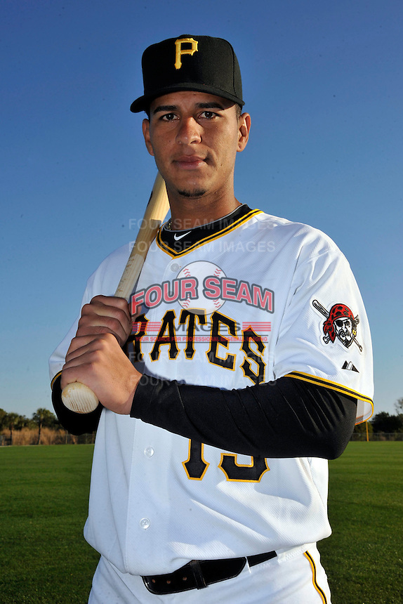 Feb 28, 2010; Bradenton, FL, USA; Pittsburgh Pirates  infielder Ronny Cedeno (13) during  photoday at Pirate City. Mandatory Credit: Tomasso De Rosa/ Four Seam Images