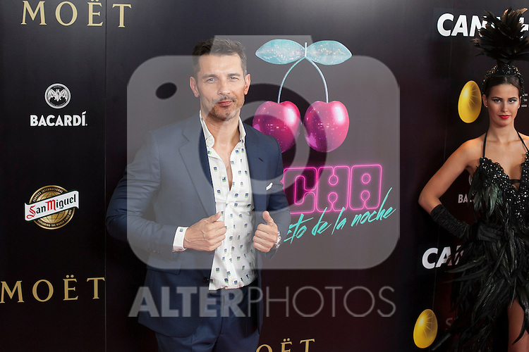 Jesus Vazquez poses during Pacha `El arquitecto de la noche´ film premiere in Madrid, Spain. May 25, 2015. (ALTERPHOTOS/Victor Blanco)