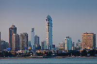 Imperial Towers skyscrapers and business district development in Tardeo South Mumbai, India from Nariman Point