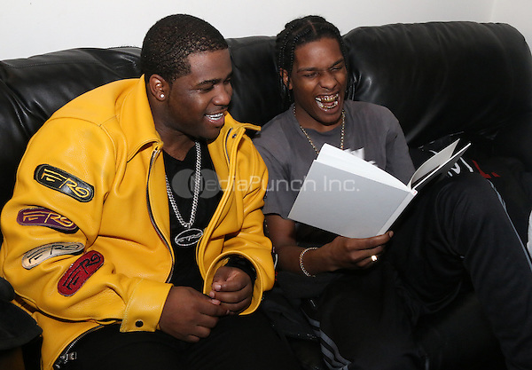 NEW YORK, NY - JANUARY 18: A$AP Ferg and A$AP Rocky backstage at The A$AP Yams Day Tribute Concert at Terminal 5, January 18, 2016 in New York City. Credit: Walik Goshorn/MediaPunch