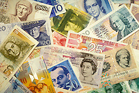 European Currencies, money, business, finance, international.