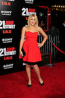 LOS ANGELES, CA - MAR 13: Renee Olstead at the premiere of Columbia Pictures '21 Jump Street' held at Grauman's Chinese Theater on March 13, 2012 in Los Angeles, California