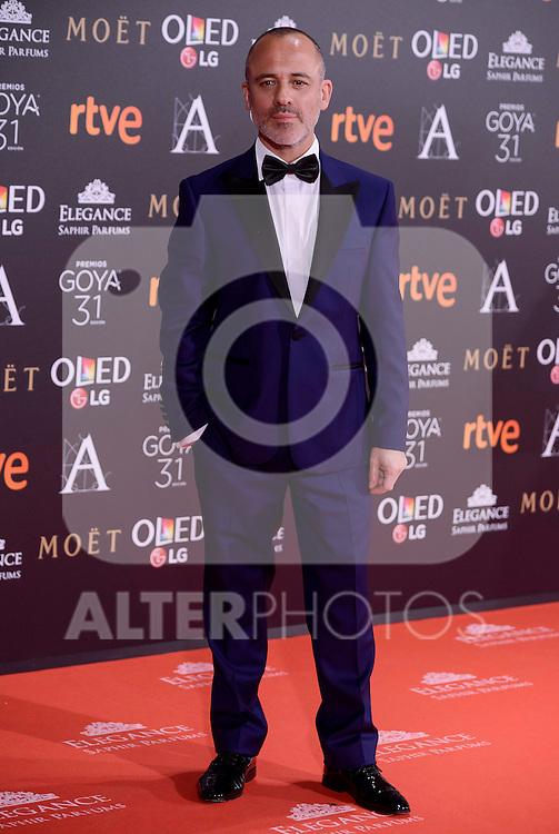 Javier Gutierrez attends to the Red Carpet of the Goya Awards 2017 at Madrid Marriott Auditorium Hotel in Madrid, Spain. February 04, 2017. (ALTERPHOTOS/BorjaB.Hojas)