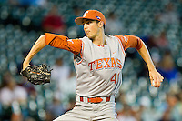 Starting pitcher Hoby Milner #41 of the Texas Longhorns in action against the Tennessee Volunteers at Minute Maid Park on March 3, 2012 in Houston, Texas.  The Volunteers defeated the Longhorns 5-4.  Brian Westerholt / Four Seam Images