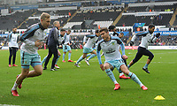 Burnley's Jeff Hendrick during the pre-match warm-up <br /> <br /> Photographer Ashley Crowden/CameraSport<br /> <br /> The Premier League - Swansea City v Burnley - Saturday 10th February 2018 - Liberty Stadium - Swansea<br /> <br /> World Copyright &copy; 2018 CameraSport. All rights reserved. 43 Linden Ave. Countesthorpe. Leicester. England. LE8 5PG - Tel: +44 (0) 116 277 4147 - admin@camerasport.com - www.camerasport.com