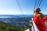 Grouse Mountain Skyride Surf Adventure is a summer opportunity to ride on top of the Grouse Mountain Gondola viewing platform as you ascend 1610 meters to the top of Grouse Mountain.  On a clear day, you can see for miles and your view will include all of Vancouver, British Columbia, Canada.
