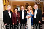 Ballybunion Golf Club 125th Anniversary Ball: Attending the 125th anniversary of the founding of Ballybunion Golf club at the Listowel Arms Hotel on Friday nigh last were Colm & Anne O'Brien, John Fox & Josette & Tom O'Donnell.