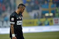 Arturo Vidal  Juventus .Calcio Parma vs Juventus.Campionato Serie A - Parma 13/1/2013 Stadio Ennio Tardini.Football Calcio 2012/2013.Foto Federico Tardito Insidefoto