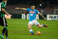 Marek Hamsik  during the  italian serie a soccer match,between SSC Napoli Sassuolo       at  the San  Paolo   stadium in Naples  Italy , November 28, 2016