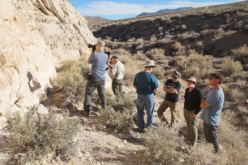 Photographers at Petroglyphs along Emigrant Canyon Road