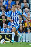 Solly March of Brighton & Hove Albion (20)   during the EPL - Premier League match between Brighton and Hove Albion and Manchester City at the American Express Community Stadium, Brighton and Hove, England on 12 August 2017. Photo by Edward Thomas / PRiME Media Images.