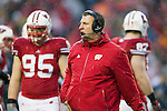 Wisconsin Badgers Head Coach Bret Bielema looks on during an NCAA Big Ten Conference college football game against the Penn State Nittany Lions on November 26, 2011 in Madison, Wisconsin. The Badgers won 45-7. (Photo by David Stluka)