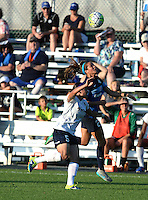 Kansas City, MO - Saturday July 16, 2016: Whitney Church, Shea Groom during a regular season National Women's Soccer League (NWSL) match between FC Kansas City and the Washington Spirit at Swope Soccer Village.