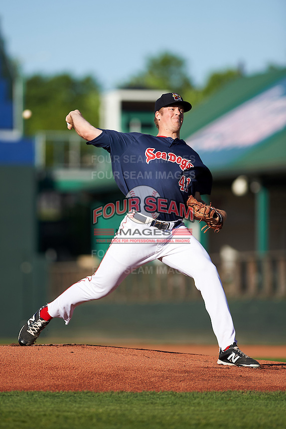 zPortland Sea Dogs starting pitcher Ty Buttrey (41) during a game against the Reading Fightin Phils on May 31, 2016 at Hadlock Field in Portland, Maine.  Reading defeated Portland 6-4.  (Mike Janes/Four Seam Images)