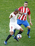 Atletico de Madrid's Koke Resurrecccion (r) and Sevilla FC's Mariano Ferreira during La Liga match. March 19,2017. (ALTERPHOTOS/Acero)