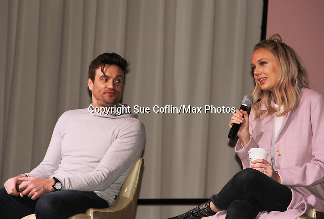 The Young and The Restless actors Daniel Goddard & Melissa Ordway came together on February 16, 2019 for a fan q & a, meet and great with autographs and photo taking hosted by Soap Opera Festival's Joyce Becker at the Hollywood Casino in Columbus, Ohio. (Photos by Sue Coflin/Max Photos)