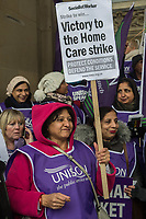UNISON Birmingham Home carers strike. 20-1-18