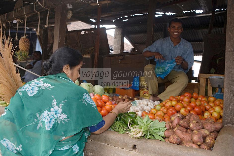 Afrique/Afrique de l'Est/Tanzanie/Zanzibar/Ile Unguja/Stone Town: au Marché Daradjani légumes exotiques